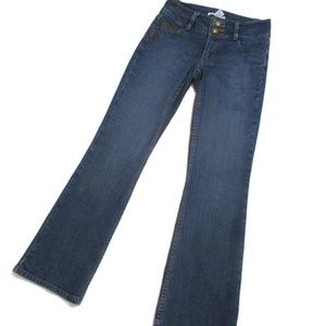 CAbi Contemporary Fit Jeans Leather Detail Jeans 0